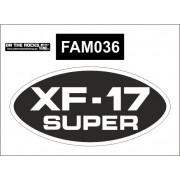 Autocolante FAMEL XF-17 SUPER - OVAL