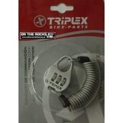 Cadeado TRIPLEX 2,5mm x 1,20m. Transparente