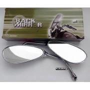 Espelho Cromo Oval tipo Orelha de 10mm - PAR