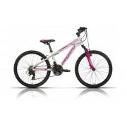 Bicicleta Megamo Btt roda 24 branco/rosa